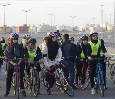 سعودی عرب میں خواتین کی پہلی سائیکل ریس ارویٰ المعودی نامی خاتون نے جیت لی