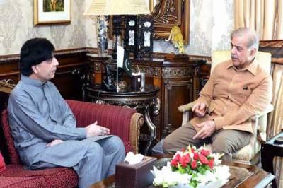چودھری نثار کی 48 گھنٹے میں شہباز شریف سے دوسری ملاقات،وزیراعلیٰ کی سابق وزیرداخلہ کو بیانات نہ دینے کی درخواست