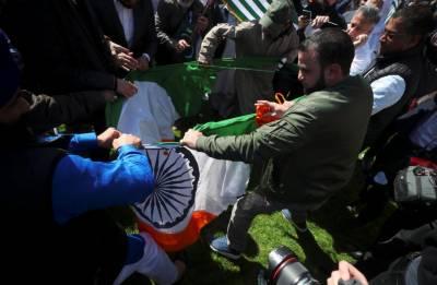 دولت مشترکہ اجلاس میں شرکت،بھارتی وزیراعظم کیخلاف برطانیہ میں سیکڑوں افراد کا مظاہرہ