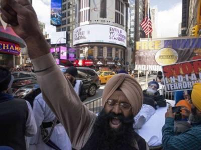 نیویارک میں سکھوں کا بھارت کے خلاف احتجاجی مارچ، خالصتان کے قیام کا مطالبہ