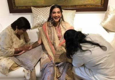 سونم کپو ر کی شادی ، تصاویر سوشل میڈیا پروائرل