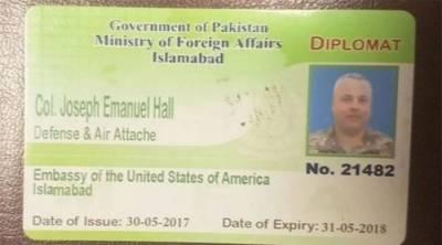 پاکستانی شہری کو کچلنے والے سفارتکار کرنل جوزف کو لینے امریکی طیارہ پہنچ گیا