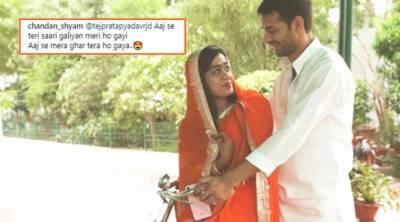 سابق بھارتی وزیراعلیٰ لالو پرشاد یادیو کے بیٹے کی اپنی اہلیہ ایشوریا کے ساتھ ہنی مون کی تصویر وائرل