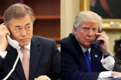 شمالی کورین رہنما سے ملاقات پر ٹرمپ اور صدر جنوبی کوریا کی مشاورت