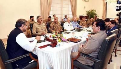 وزیراعظم کی زیرصدارت قومی سلامتی کمیٹی کا اہم اجلاس جاری
