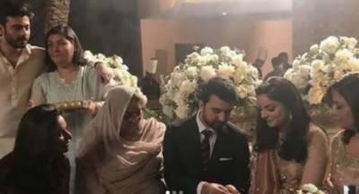 فواد خان کی بہن کی خفیہ منگنی کی تصاویر وائرل