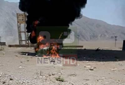 کوئٹہ مشرقی بائی پاس کے قریب ہیلی کاپٹر گر کر تباہ، 1 اہلکار شہید