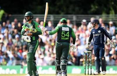 پاکستان نے اسکاٹ لینڈ کو جیت کیلئے 167 رنز کا ٹارگٹ دیدیا