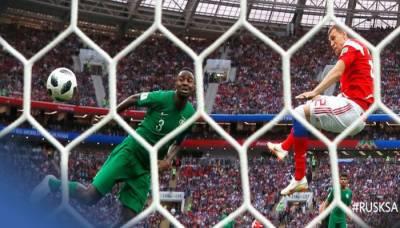 فٹ بال ورلڈ کپ کے افتتاحی میچ میں میزبان روس نے سعودی عرب کو شکست دیدی