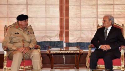 نگران وزیراعظم ناصر الملک سے آرمی چیف جنرل قمر باجوہ کی ملاقات