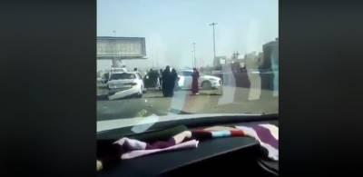 سعودی عرب میں خاتون ڈرائیور کے پہلے حادثے کی ویڈیو منظر عام پر آگئی