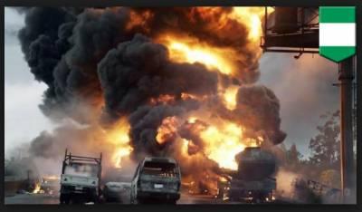 نائیجیریا ، آئل ٹینکر میں دھماکا، 9 افراد ہلاک، 54 گاڑیاں خاکستر