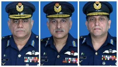 پاک فضائیہ کے تین افسران کی ایئر مارشل کے عہدے پر ترقی