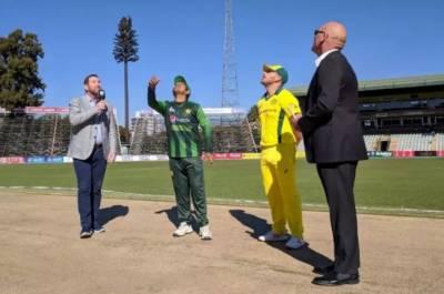 سہ ملکی سیریز : آسٹریلیا کا پاکستان کیخلاف ٹاس جیت کر فیلڈنگ کا فیصلہ
