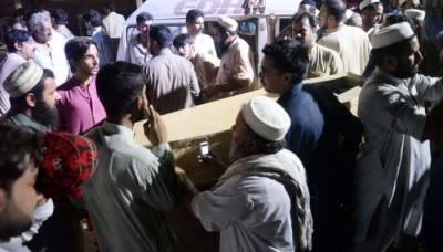 پشاور خودکش حملے کے 10 شہدا سپرد خاک، شہر کی فضا سوگوار