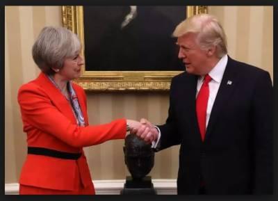 امریکی صدر ٹرمپ اور برطانوی وزیراعظم تھریسا مے کی غیر رسمی ملاقات