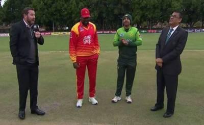 زمبابوے کا ٹاس جیت کر پاکستان کے خلاف پہلے بیٹنگ کا فیصلہ