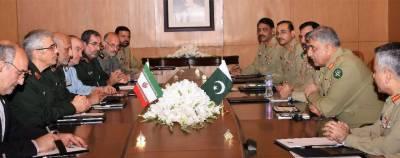 آرمی چیف سے ایرانی مسلح افواج کے سربراہ کی ملاقات، روابط مزید بڑھانے پر زور