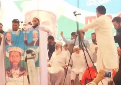 جماعت اسلامی کے انتخابی جلسے کے دوران اسٹیج گرگیا
