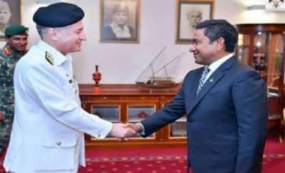 پاک بحریہ کے سربراہ کا دورہ مالدیپ، صدر عبداللہ یامین سے ملاقات کی