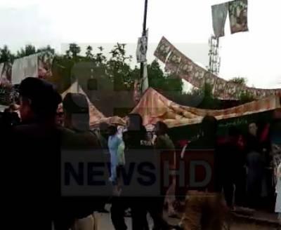 این اے 107 فیصل آباد، پی ٹی آئی اور ن لیگی کارکنان میں جھگڑا