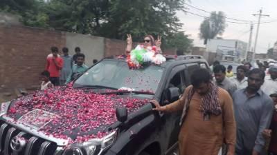 نجم سیٹھی کی اہلیہ جگنو محسن پی پی 148 سے کامیاب، غیر سرکاری و غیر حتمی نتائج