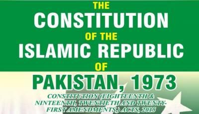 کسی بھی سیاسی جماعت میں فارورڈ بلاک بنانے پر آئینی قدغن ہے، آئین پاکستان