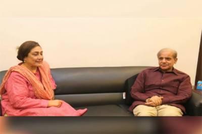 شہباز شریف کی جگنو محسن سے ملاقات، پارٹی میں شمولیت کی دعوت