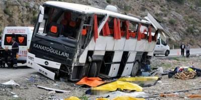 ترکی میں چینی سیاحوں کی بس کو حادثہ ،2افراد ہلاک ،30زخمی