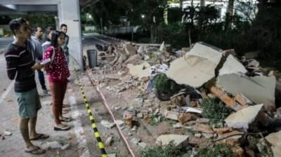 انڈونیشیا کے جزیرے لومبوک میں 7 شدت کا زلزلہ، 90 افراد ہلاک