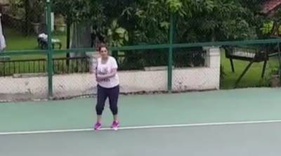 ثانیہ مرزا کی حاملہ ہونے کے باوجود ٹینس کھیلنے کی ویڈیو وائرل