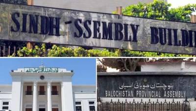 کے پی، بلوچستان اور سندھ اسمبلی کے اراکین نے حلف اٹھا لیا