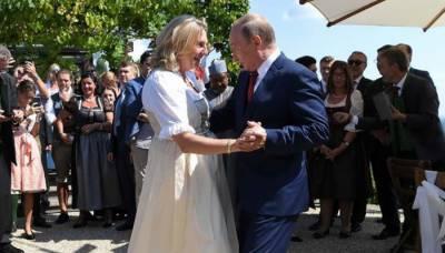 آسٹریا کی وزیر خارجہ کی شادی پر پیوٹن کا رقص
