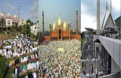 پاکستان بھر میں عید الاضحیٰ مذہبی عقیدت و احترام سے منائی جارہی ہے
