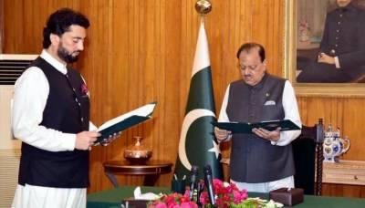 شہریار آفریدی نے وزیر مملکت برائے داخلہ کے عہدے کا حلف اٹھا لیا