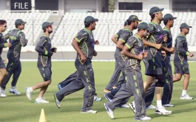 پاکستانی کرکٹ ٹیم کا تربیتی کیمپ نیشنل کرکٹ اکیڈمی میں جاری