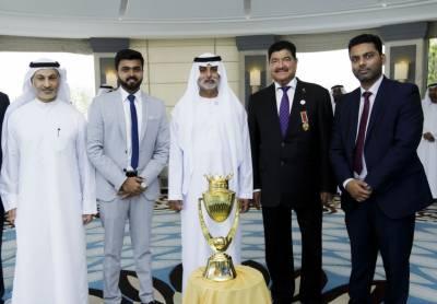 ابوظہبی میں ایشیا کرکٹ کپ ٹرافی کی تقریب رونمائی