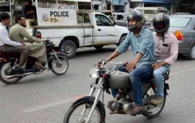 سندھ بھر میں ڈبل سواری پر پابندی کا نوٹیفکیشن جاری