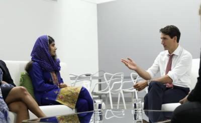 ملالہ یوسف زئی کی ٹروڈو سے ملاقات، لڑکیوں کی تعلیم پر گفتگو