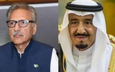 شاہ سلمان اور ولی عہد کی عارف علوی کو مبارک باد