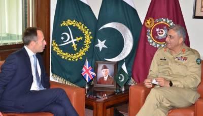 آرمی چیف سے برطانوی ہائی کمشنر کی ملاقات، باہمی دلچسپی کے امور پر تبادلہ خیال