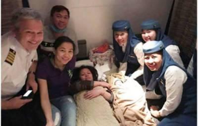 فلپائنی خاتون نے دوران پرواز بچے کو جنم دیا