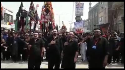 ملک بھر کی طرح جلال پور بھٹیاں میں بھی یوم عاشور عقیدت واحترام سے منایا جا رہا ہے