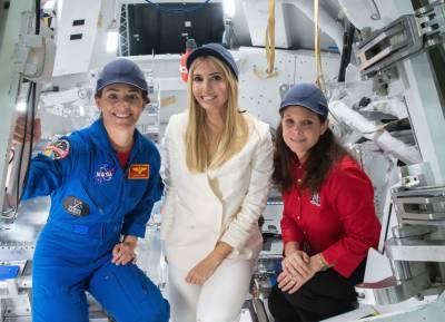 ایونکا ٹرمپ کی ناسا کی سیر، خلا بازوں سے خوب خوش گپیاں