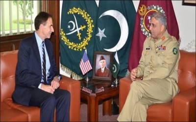 آرمی چیف سے امریکی ناظم الامور کی ملاقات، افغانستان کی صورتحال پر گفتگو
