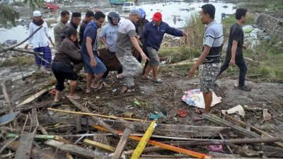 انڈونیشیا میں سونامی، ہلاکتوں کی تعداد 450 تک جا پہنچی