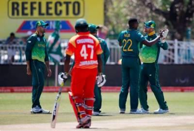 جنوبی افریقہ نے زمبابوے کو پہلے ون ڈے میچ میں شکست دیدی