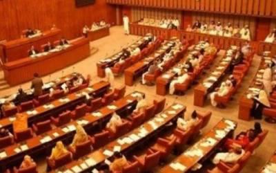 سینیٹ اجلاس: فواد چوہدری کی آمد پر مشاہد اللہ خان برہم، اپوزیشن کا واک آؤٹ