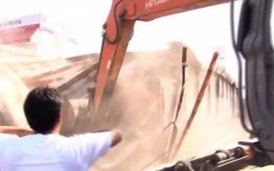 لاہور میں منشا بم کی مبینہ قبضے کی جگہ پر غیر قانونی تعمیرات مسمار