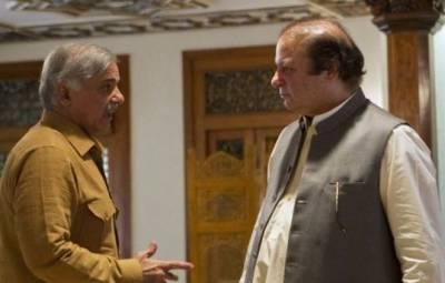 سابق وزیر اعظم نواز شریف کی اپنے بھائی شہباز شریف سے نیب آفس میں خاندان سمیت ملاقات